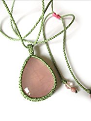 quartz rose macramé