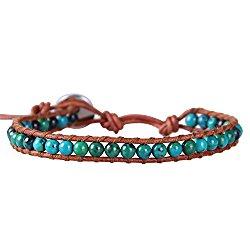 turquoise bracelet cuir
